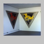 """Robert Huot - Double Figure Tryptych R.O.Y. 1 of 2 / 2002 / 81"""" x 282"""""""