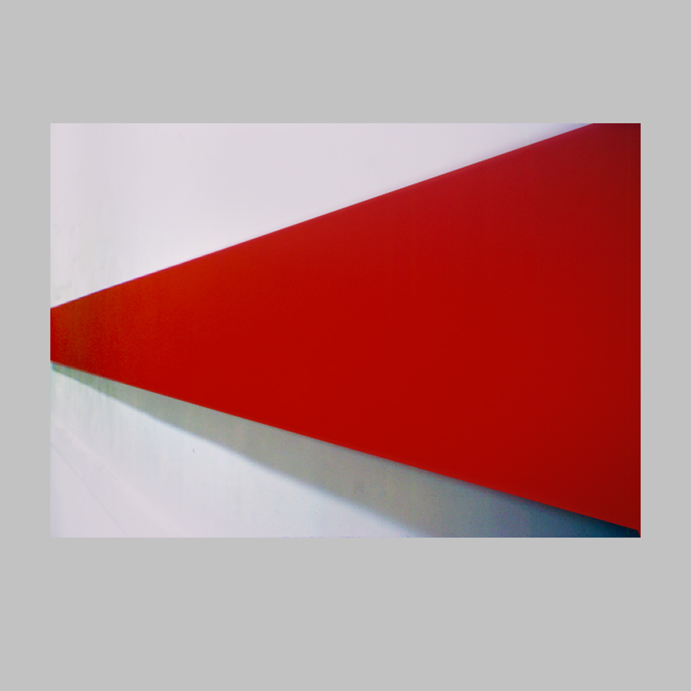 "Robert Huot - Red / 1965 / Acrylic on Canvas / 20"" x 200"""