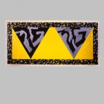 "Robert Huot - D.F. Yellow Double Phoenix / 1996-97 / 93"" x 182"""