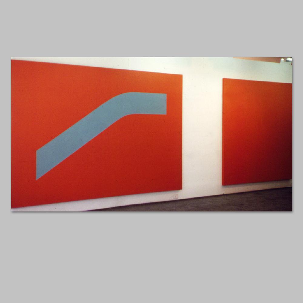 """Robert Huot - Re-Presents / 1965 / Acrylic on Canvas / 80"""" x 240"""""""