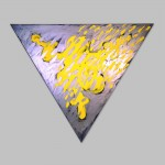 "Robert Huot - Mutant Yellow Christ / 1995 / 81"" by 93"" (x3)"
