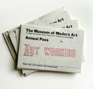 MOMA Art Workers Pass
