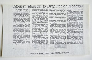 "MOMA ""Free Days"" Article"