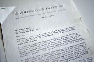 Whitney Museum Letter