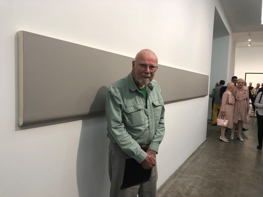 Robert Huot with Sulfur-Bottom, 1967, at 50th Anniversary of Paula Cooper Gallery NYC